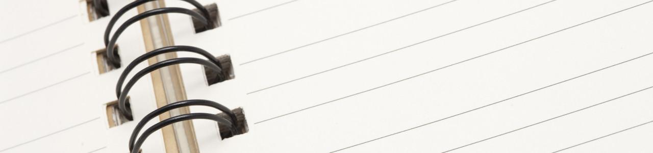 Blank Ringbound Notepad